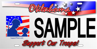 Save Our Troops License Plate for Oklahoma